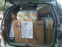 支援物資が野田村の建設業者へ