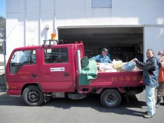 釜石支部に支援物資搬入