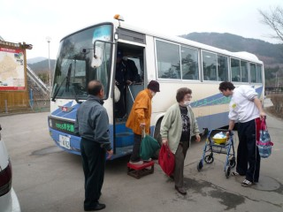 入浴支援バス運行