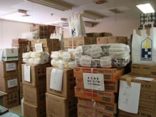 栃木県建設業協会からの支援物資