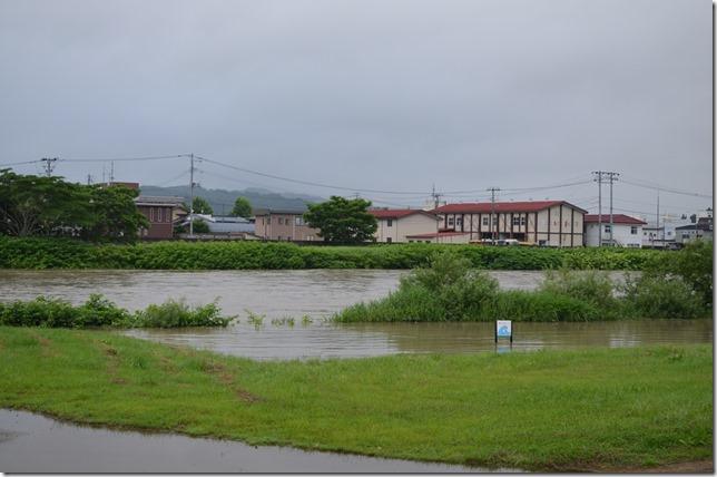 20.7.12大雨被害 久慈川