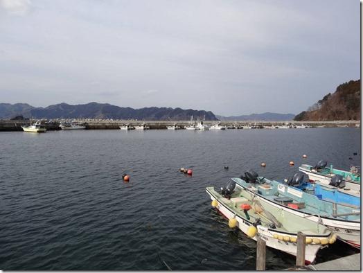 白浜漁港内