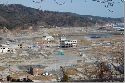 大槌町市街地(城山公園から)