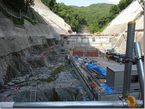 H290706簗川ダム視察研修5(下流側)