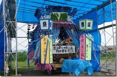 「うごく七夕まつり」の山車