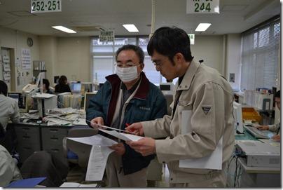 報告の様子 日刊岩手建設工業新聞社