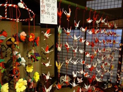 折り鶴のつるし雛