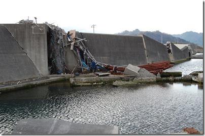 大槌漁港の被災状況