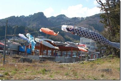大槌町吉里吉里の鯉のぼり