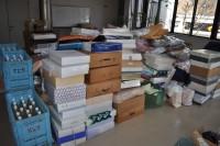 搬入した支援物資