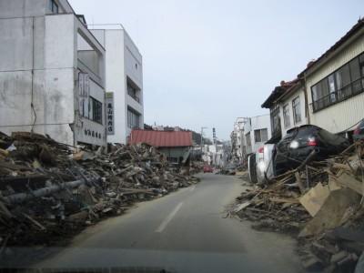気仙沼市内の被災状況